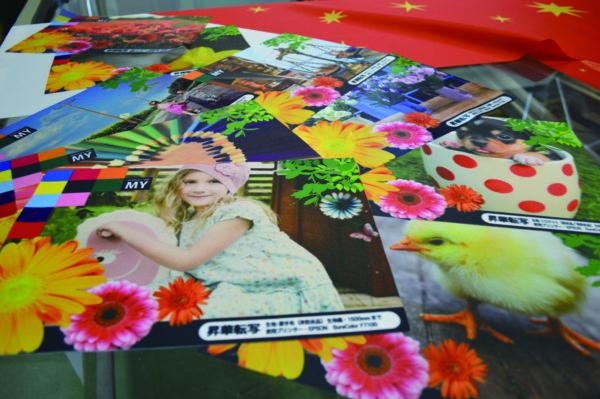 エムワイで製作した色見本。