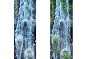 チームラボ、「GINZA SIX」で「Universe of Water Particles on the Living Wall」を常設展示。