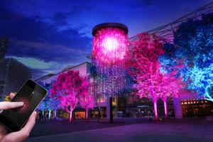 チームラボ インタラクティブアート作品を「第33回全国都市緑化よこはまフェア」で「人と木々とクリスタル花火」披露