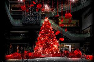 〈2017.9.28〉グランフロント大阪、「赤」をテーマにまち全体をクリスマスらしい華やかなムードで盛り上げる。