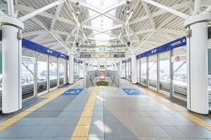 〈2017.10.5〉キズに強く、短期間で施工が可能「3M™ ダイノック™ フィルム」、台場駅をはじめ新交通ゆりかもめの駅の改修工事にて採用