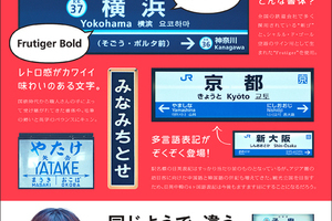 〈2018.1.7〉『もじ鉄 書体で読み解く日本全国全鉄道の駅名標』発売