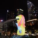 「フォーミュラ1 シンガポールGP」開催期間限定  マーライオン・プロジェクションマッピング