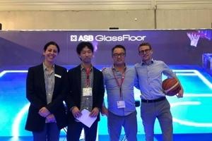スポーツ施設づくりをサポートする「ASjapan」がドイツ最大のLEDフロア企業「ASBglassfloor」と業務提携。最新式のLEDグラスフロアの提供を開始