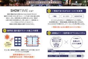 〈2021.2.22〉ショーウィンドウを広告スペースとして利用できる広告プラットフォームサービス「SHOWTIME」